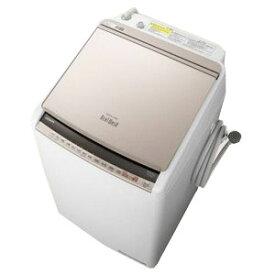 日立 縦型洗濯乾燥機 「ビートウォッシュ」 [洗濯8.0kg/乾燥4.5kg/ヒーター乾燥(水冷・除湿タイプ)] BW−DV80E−N シャンパン(標準設置無料)