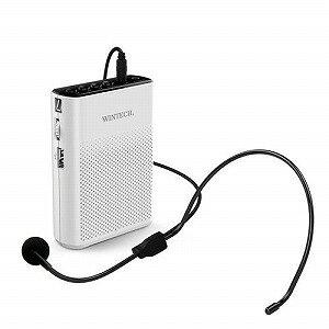 広華物産 ポータブルハンズフリー拡声器 WINTECH KMA−200 ホワイトxブラック