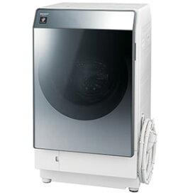 シャープ ドラム式洗濯乾燥機 [洗濯11.0kg/乾燥6.0kg/ヒートポンプ乾燥/右開き] ES−W112−SR シルバー系(標準設置無料)