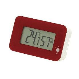 エンペックス デジタル温湿度計 シュクレ・イルミー TD−8338 ワインレッド