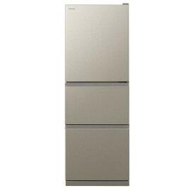 日立 HITACHI 3ドア冷蔵庫(265L) R−27KV ライトブラウン(標準設置無料)