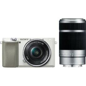 ソニー SONY ミラーレス一眼カメラ α6100 ダブルズームレンズキット [ズームレンズ+ズームレンズ] ILCE−6100Y−W ホワイト