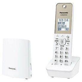 パナソニック Panasonic 「親機コードレス/単独子機」デジタルコードレス留守番電話機 VE−GZL40DL−Wホワイト
