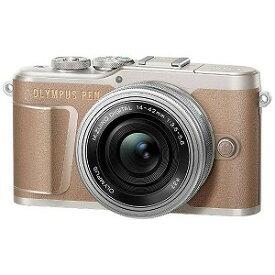 オリンパス OLYMPUS ミラーレス一眼カメラ (14−42mm EZレンズキット) E−PL10 ブラウン