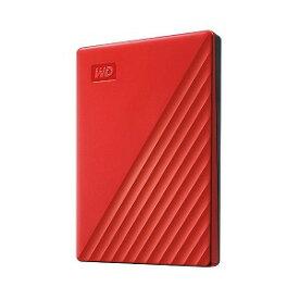 ウエスタンデジタル USB 3.1 Gen 1(USB 3.0)/2.0対応 ポータブルHDD WD My Passport 2TB WDBYVG0020BRD−JESN レッド