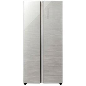 アクア AQUA 2ドア冷蔵庫 [449L・観音開きタイプ] AQR−SBS45J−S ヘアラインシルバー(標準設置無料)