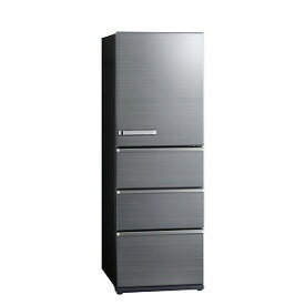 アクア AQUA 4ドア冷蔵庫(430L) AQR−V43J(S) チタニウムシルバー(標準設置無料)