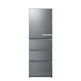 アクア AQUA 4ドア冷蔵庫(430L・左開きタイプ) AQR−V43JL(S) チタニウムシルバー(標準設置無料)