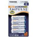 東芝 充電池(単3形4本入)「充電式IMPULSE」 TNH‐3A 4P
