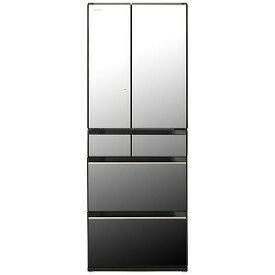 日立 HITACHI 6ドア冷蔵庫(602L・フレンチドアタイプ) R−HX60N−X クリスタルミラー(標準設置無料)