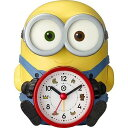 リズム時計工業 ミニオンおしゃべり目覚まし 「ボブの音声アラームクロック」 4REA30ME33 黄