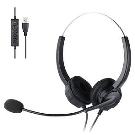 コンピューケースジャパン ヘッドセット [USB/両耳/ヘッドバンドタイプ] JHS−VH530D−BK