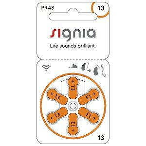 シーメンス SIEMENS 補聴器用電池 空気電池 signia(シグニア) [6本 /PR48(13)] PR48