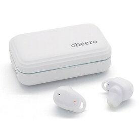 CHEERO フルワイヤレスイヤホン [リモコン・マイク対応/ワイヤレス(左右分離)/Bluetooth/ノイズキャンセリング対応] CHE−627−WH ホワイト