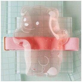 保冷剤 ひえクマランチバンド付 透明×ピンク C−006CP