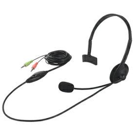 バッファロー 片耳ヘッドバンド式ヘッドセット BSHSH05BK (ブラック)