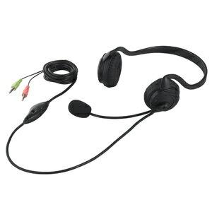 バッファロー 両耳ネックバンド式ヘッドセット BSHSN02BK (ブラック)