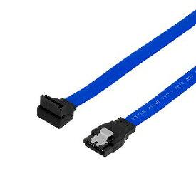 オウルテック SATA3.0ケーブル20cmブルー コネクタ [ストレート]−[上L型] 3年保証 ブルー OWL−SATA3SLT20−BL