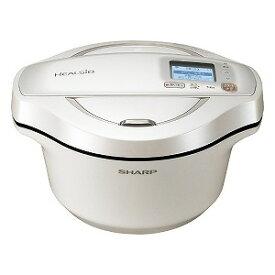 シャープ SHARP 水なし自動調理鍋 HEALSIO(ヘルシオ)ホットクック ホワイト系 KN−HW24F−W