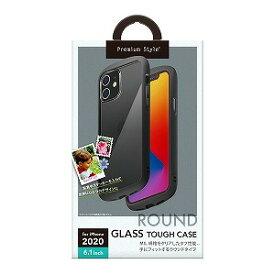PGA iPhone 12/12 Pro 6.1インチ対応ガラスタフケース ラウンドタイプ ブラック PG−20GGT01BK