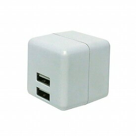 ミヨシ USB2ポート スマホ用USB充電コンセントアダプタ 2.4Aタイプ 自動出力制御機能付 IPAUS02WH(ホワイ