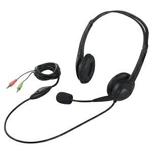 バッファロー 両耳ヘッドバンド式ヘッドセット 半密閉タイプ BSHSH07BK (ブラック)