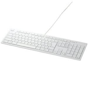 バッファロー USB接続 有線キーボード Macモデル BSKBM01WH (ホワイト)