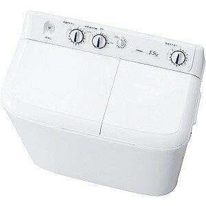ハイアール 二槽式洗濯機(5.5kg) JW‐W55E‐W (ホワイト)(標準設置無料)