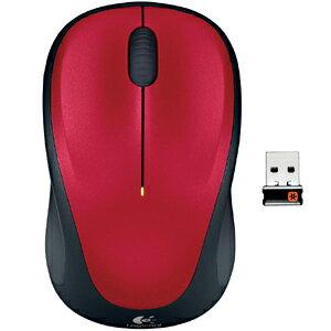 ロジクール ワイヤレス光学式マウス(2.4GHz・USB)3ボタン M235rRD (レッド)