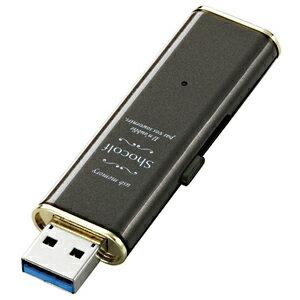 エレコム USBフラッシュメモリー「Shocolf」(16GB) MFXWU316G(BW)(ビターブラウン)