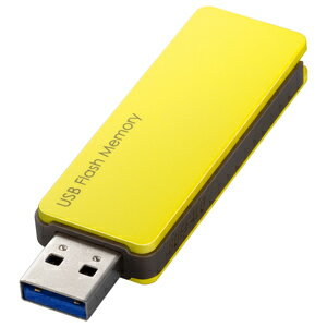 バッファロー USB3.0対応 USBメモリー キャップレス(32GB) RUF3‐PW32G‐YE (イエロー)