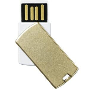 エレコム USBメモリー 回転式コネクタカバー (16GB) MF‐RSU216GGD (ゴールド)