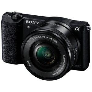 ソニー ミラーレス一眼カメラ「α5100」 パワーズームレンズキット ILCE−5100L B (ブラック)
