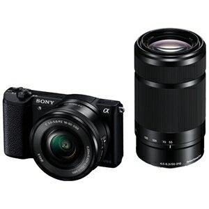 ソニー ミラーレス一眼カメラ「α5100」 ダブルズームレンズキット ILCE−5100Y B (ブラック)