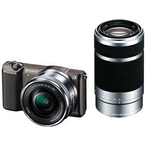 ソニー ミラーレス一眼カメラ「α5100」 ダブルズームレンズキット ILCE−5100Y T (ブラウン)