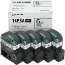 キングジム 透明ラベルテープ 「テプラPRO」(黒文字/6mm幅・5個パック) ST6K‐5P (透明)(送料無料)