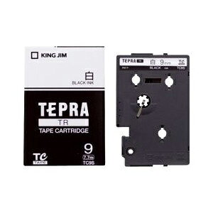 テプラ TR用テープカートリッジ 白ラベル TC9S [黒文字 9mm×7.7m]