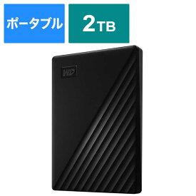 WESTERN DIGITAL USB 3.1 Gen 1(USB 3.0)/2.0対応 ポータブルHDD WD My Passport 2TB WDBYVG0020BBK-JESN ブラック