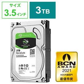 SEAGATE 「バルク品・保証無」内蔵HDD 3TB [3.5インチ・SATA] BarraCuda ST3000DM007