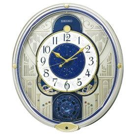 セイコー からくり時計 【ウェーブシンフォニー】 薄金色パール RE582G