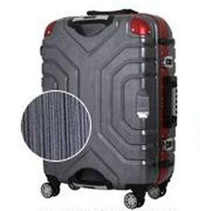 エスケープ TSAロック搭載スーツケース(52L) B5225T‐58 (ヘアラインブラック/レッド)