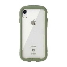 HAMEE [iPhone XR専用]iFace Reflection 強化ガラス クリアケース iFace カーキ 41-907535