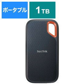 サンディスク 外付けSSD USB−C+USB−A接続 エクストリーム V2 ブラック/オレンジ [ポータブル型 /1TB] SDSSDE61-1T00-J25