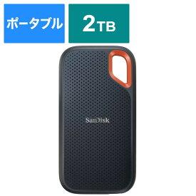 サンディスク 外付けSSD USB−C+USB−A接続 エクストリーム V2 ブラック/オレンジ [ポータブル型 /2TB] SDSSDE61-2T00-J25
