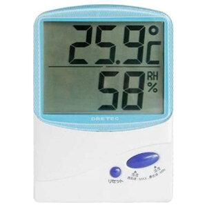 ドリテック 温湿度計 O‐206‐BL