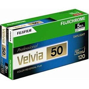 富士フイルム FUJIFILM ベルビア50 120 5本パック(新パッケージ) 120VELVIA50EPNP12EX5