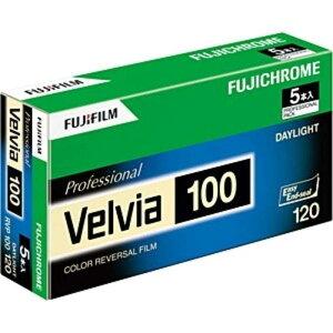富士フイルム FUJIFILM ベルビア100 120 5本パック(新パッケージ) 120VELVIA100EPNP12EX