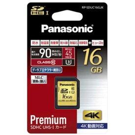 パナソニック Panasonic SDHCメモリカード UHS−I対応 UHSスピードクラス3 [Class10対応/16GB] RP-SDUC16GJK?