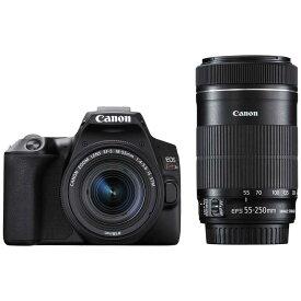 キヤノン CANON デジタル一眼レフカメラ EOS Kiss X10 ブラック 【ダブルズームキット】