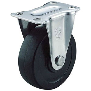 ユーエイキャスター キャスター固定車 ハードゴム車輪径50 SR50RH